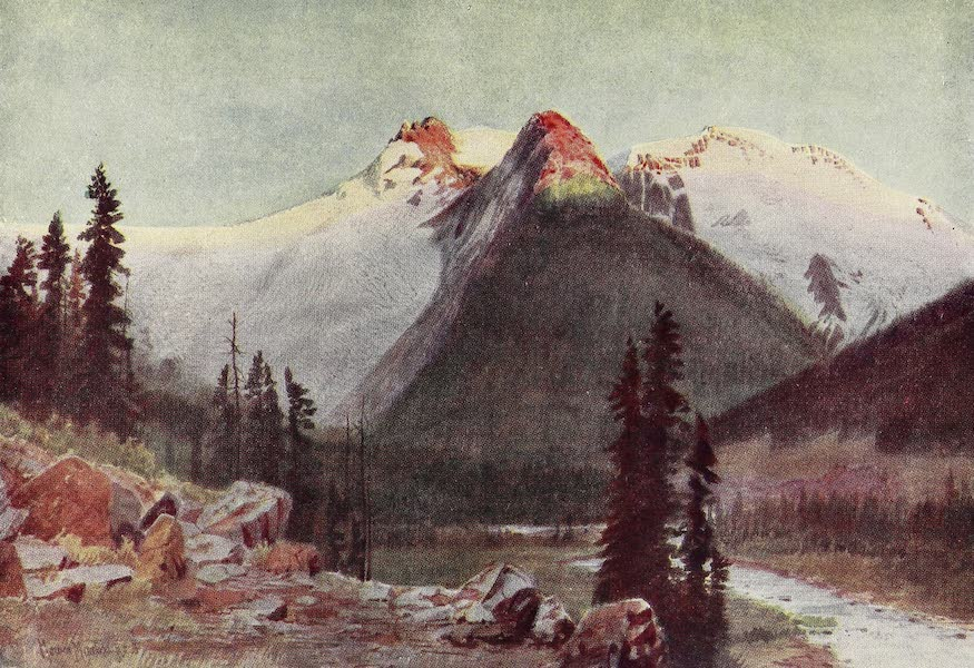 Canada, Painted and Described - Sunset on the Great Selkirk Glaciers (1907)