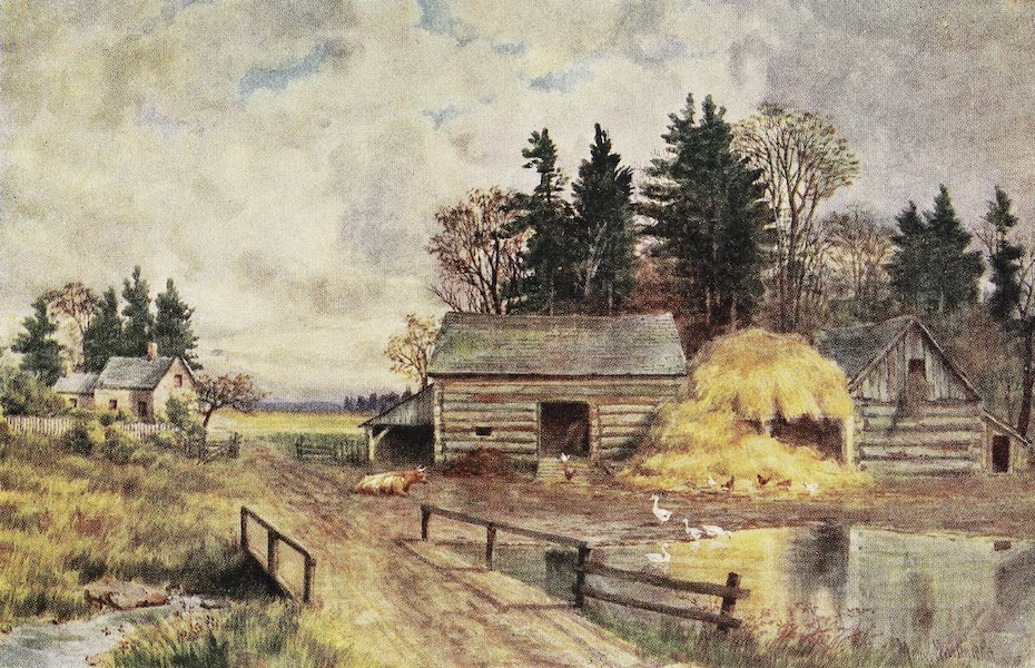Canada, Painted and Described - Old-Fashioned Farm, New Brunswick (1907)