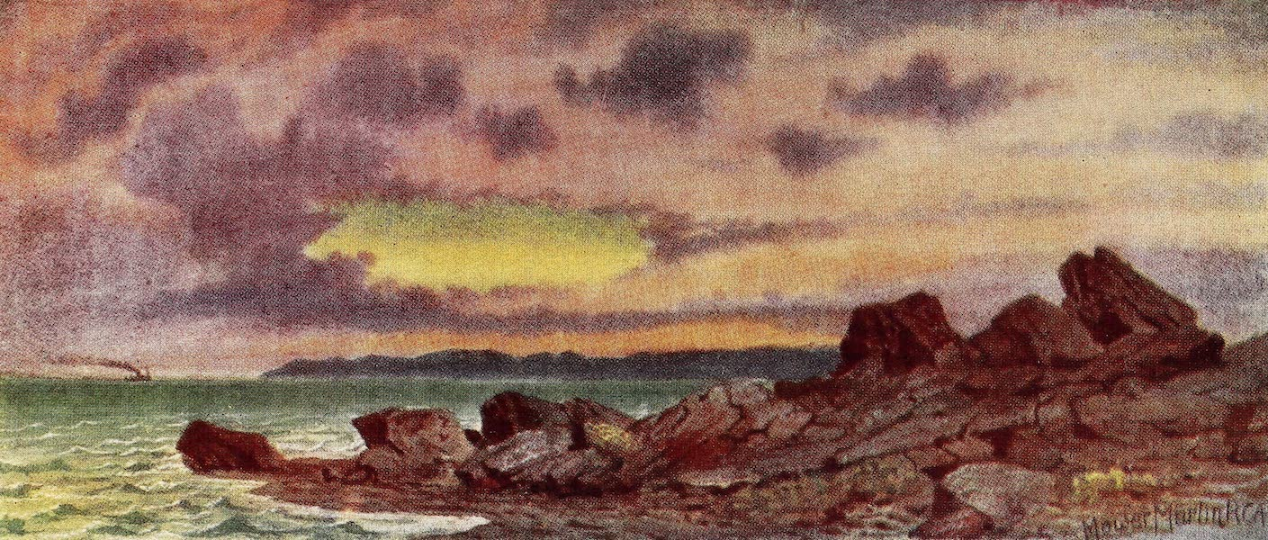 Canada, Painted and Described - Stormy Sunset, Coast near St. John, New Brunswick (1907)
