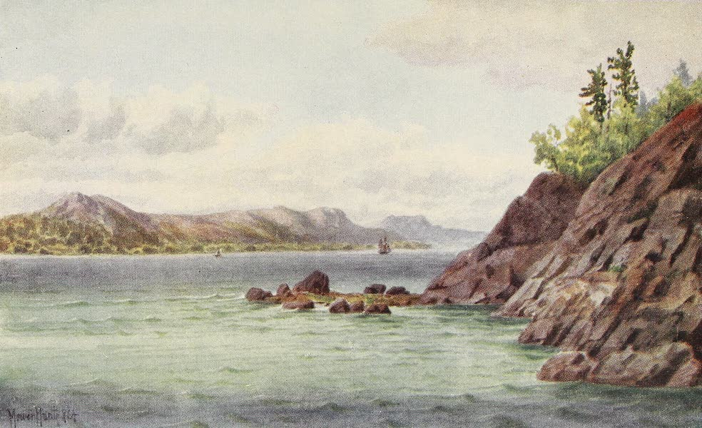 Canada, Painted and Described - St. Lawrence, near Sillery Cove (1907)