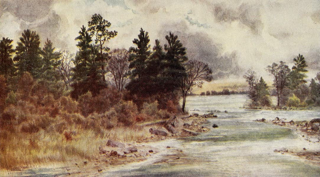 Canada, Painted and Described - The Ottawa at Vaudreuil (1907)