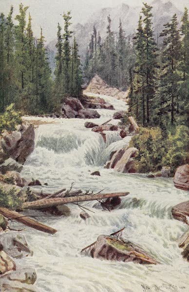 Canada, Painted and Described - Falls on the Illecillewaet River, Selkirk Mountains, British Columbia (1907)