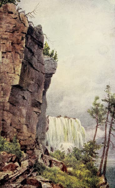 Canada, Painted and Described - A Glimpse of Niagara from under Luna Island (1907)