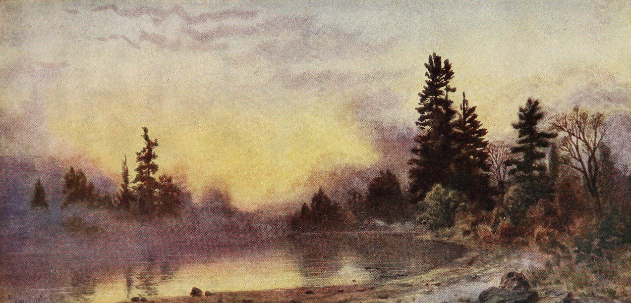 Canada, Painted and Described - Evening Mists, Muskoka (1907)
