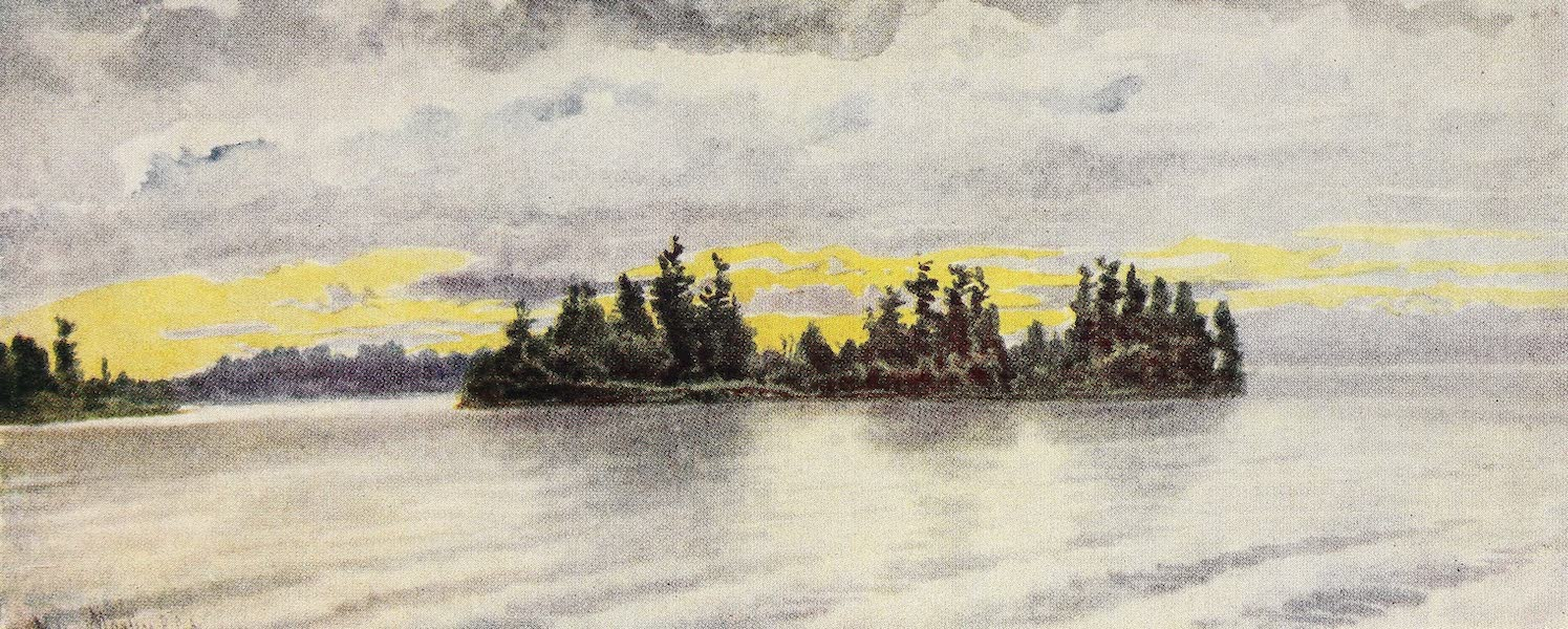 Canada, Painted and Described - Showery Weather, Muksoka Lake (1907)