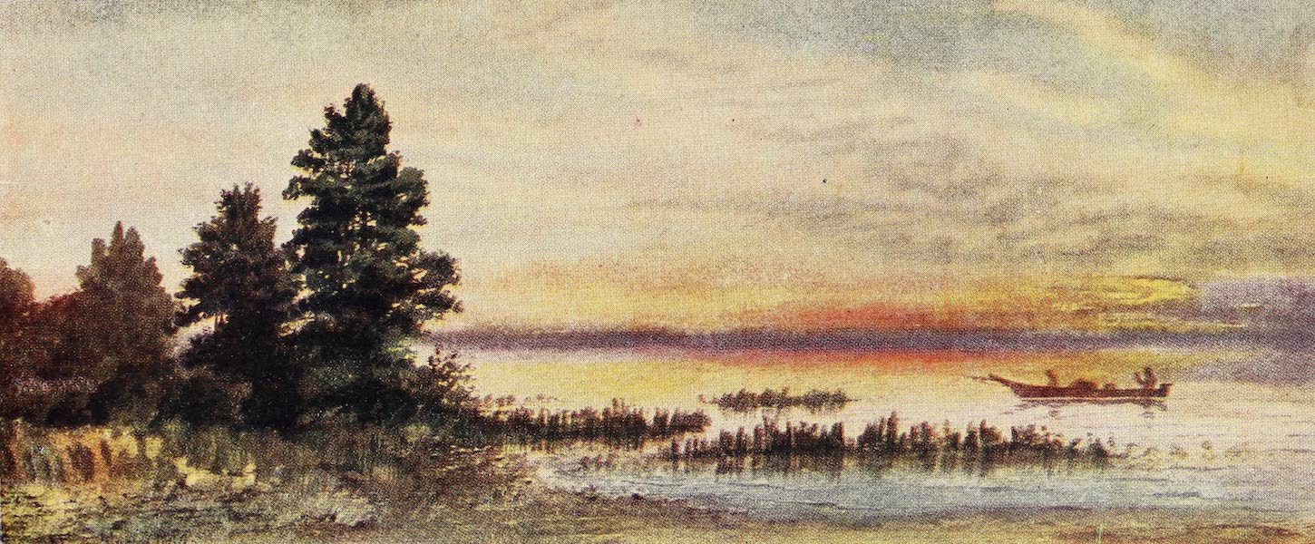 Canada, Painted and Described - Sunset on Lake Superior (1907)