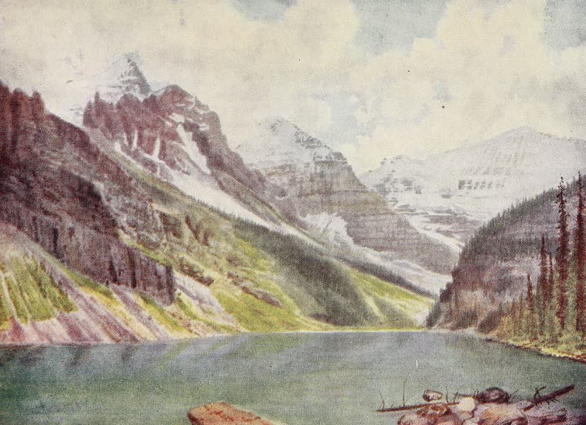 Canada, Painted and Described - Mounts Aberdeen, Lefroy, and Victoria, on Lake Louise (1907)