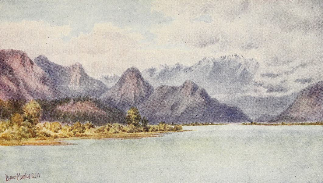 Canada, Painted and Described - Pitt River and Golden Ear Mountains (1907)