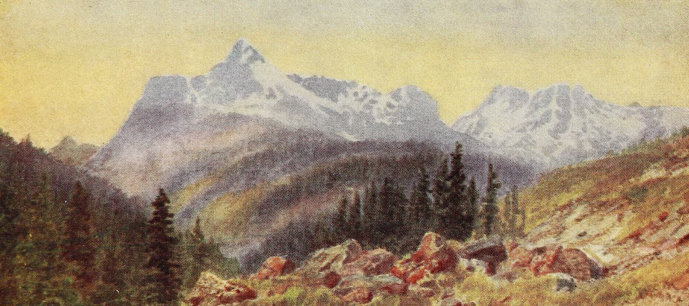Canada, Painted and Described - From the Foot of Eagle Peak, Selkirk Mountains (1907)