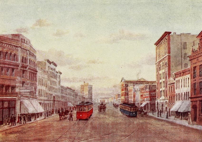 Canada, Painted and Described - Winnipeg : Corner Main Street and Portage Avenue (1907)