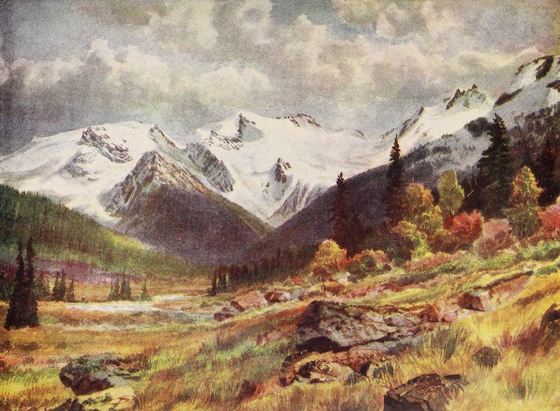 Canada, Painted and Described - The Valley from Rogers Pass (1907)