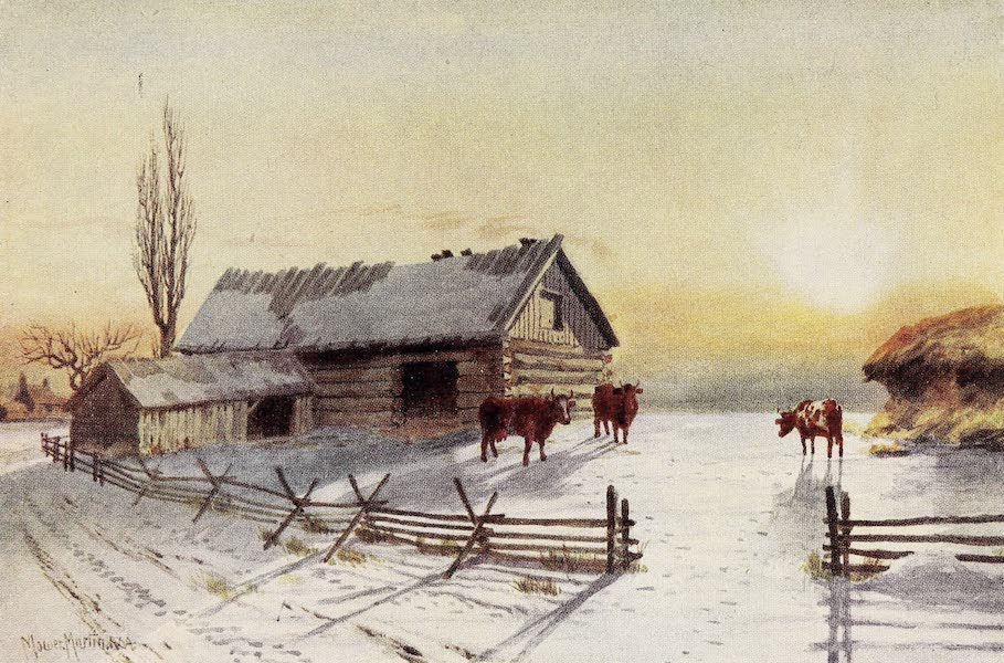 Canada, Painted and Described - Back Country Farmyard, Winter (1907)