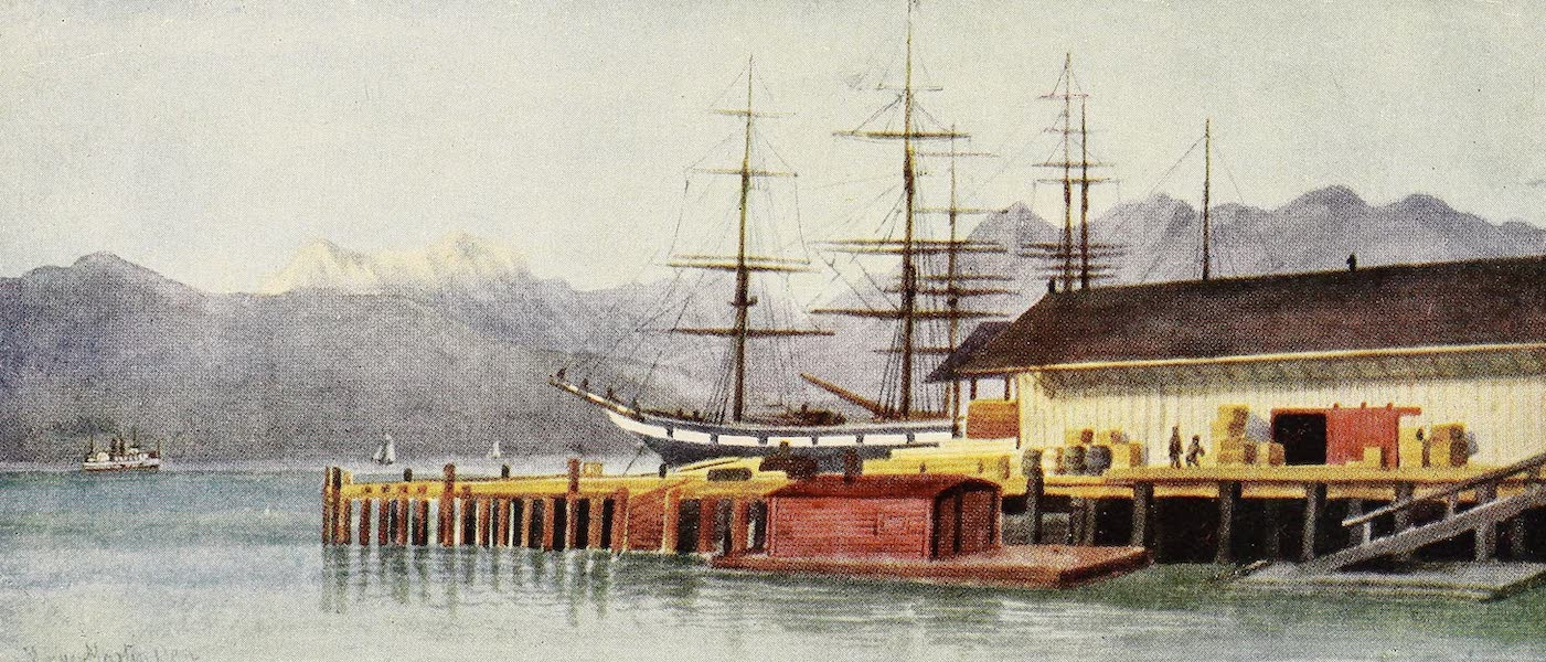 Canada, Painted and Described - Hastings Wharf, Vancouver (1907)