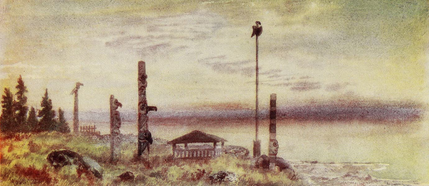 Canada, Painted and Described - Burial-Ground of Siwash Indians (1907)