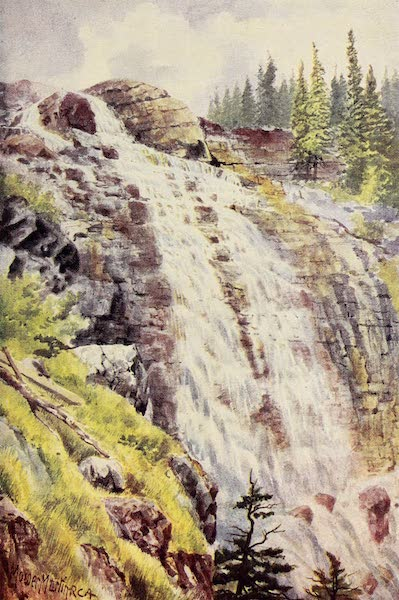 Canada, Painted and Described - Outlet of Lake Agnes (1907)
