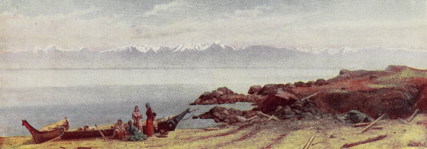 Canada, Painted and Described - Olympic Mountains, from Coast near Victoria (1907)