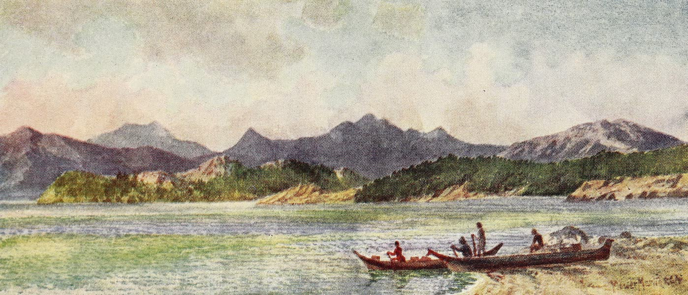 Canada, Painted and Described - Pacific Coast near Nelson's Island (1907)