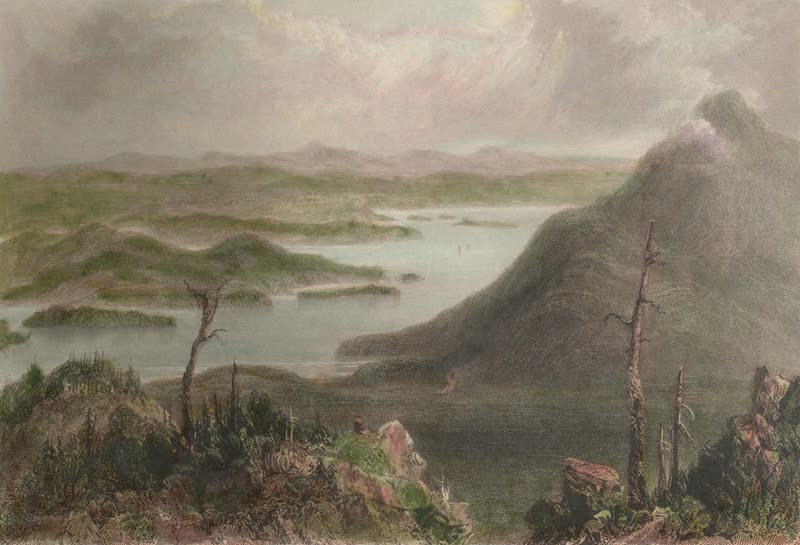 Canadian Scenery Illustrated: Volume 1 - View across the boundary line (from the Sugar-loaf) (1865)