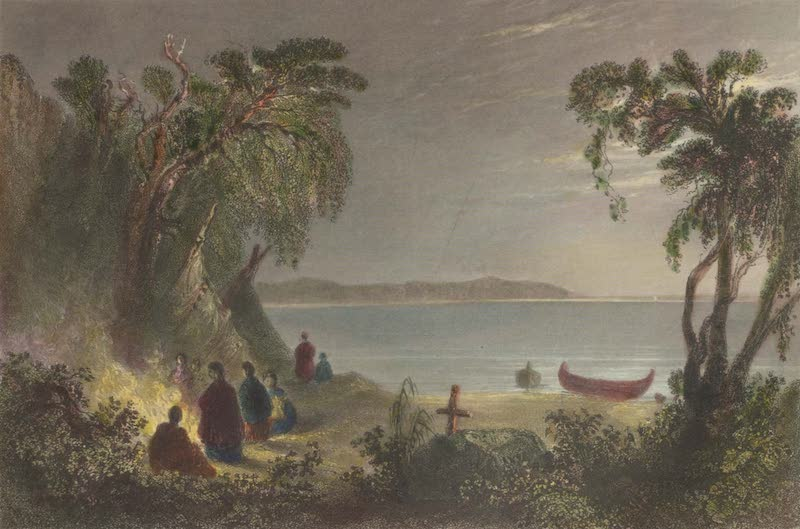 Canadian Scenery Illustrated: Volume 1 - The Squaw's Grave (Ottawa River) (1865)