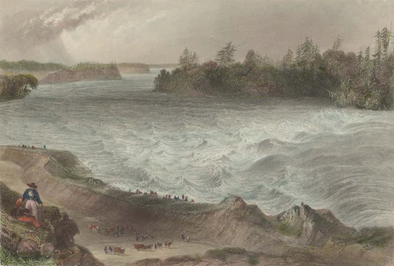 Canadian Scenery Illustrated: Volume 1 - Long Sault Rapid, on the St. Laurence (1865)