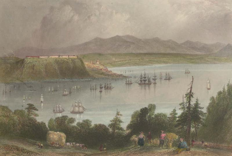 Canadian Scenery Illustrated: Volume 1 - Quebec, from the opposite shore of the St. Laurence (1865)