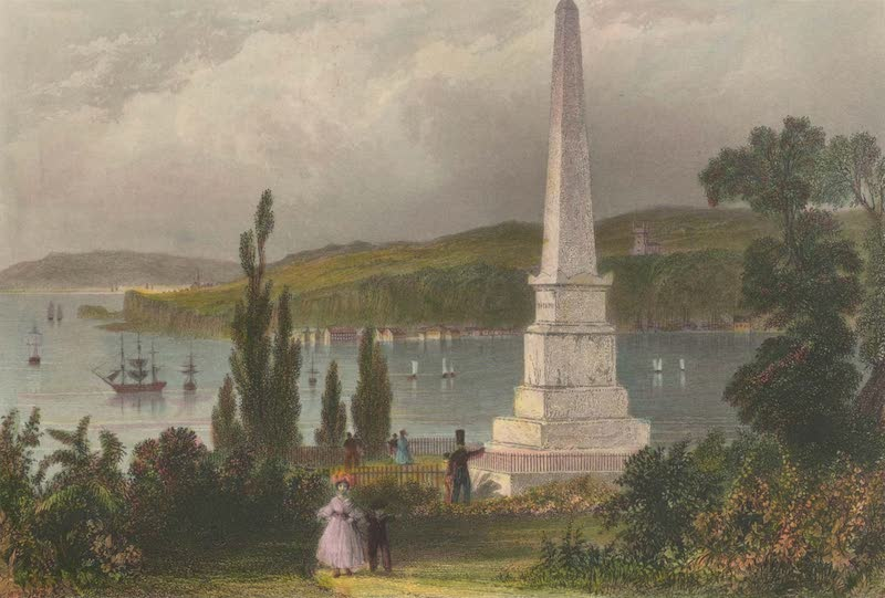 Canadian Scenery Illustrated: Volume 1 - Monument to Wolfe and Montcalm, Quebec (1865)
