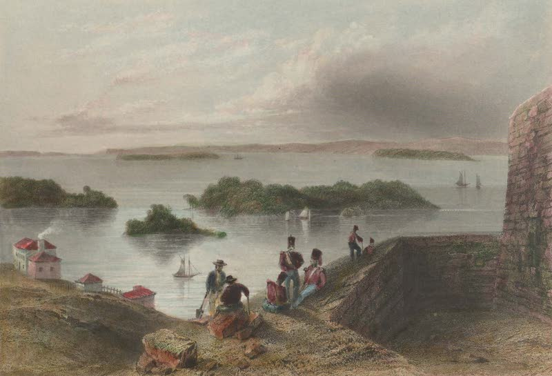 Canadian Scenery Illustrated: Volume 1 - View from the Citadel at Kingston (1865)