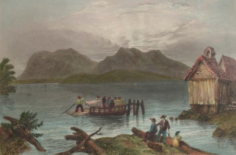 Canadian Scenery Illustrated: Volume 1 - Copp's Ferry (near Georgeville) (1865)