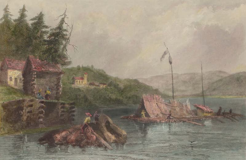 Canadian Scenery Illustrated: Volume 1 - March, on Lake Chaudiere (1865)