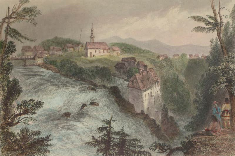 Canadian Scenery Illustrated: Volume 1 - Ancienne Lorette, near Quebec Church of Annunciation (1865)