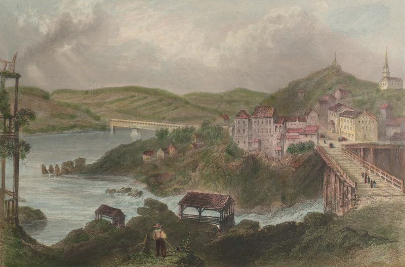 Canadian Scenery Illustrated: Volume 1 - Junction of the St. Francis and Magog-Rivers (Sherbrooke) (1865)