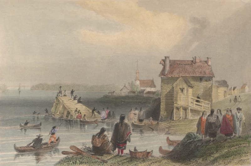 Canadian Scenery Illustrated: Volume 1 - St. Regis, Indian Village (St. Laurence) (1865)