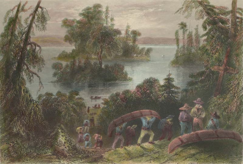 Canadian Scenery Illustrated: Volume 1 - Burial Place of the Voyageurs (1865)