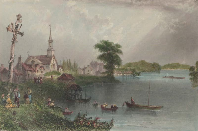 Canadian Scenery Illustrated: Volume 1 - Village of Cedars, River St. Laurence (1865)