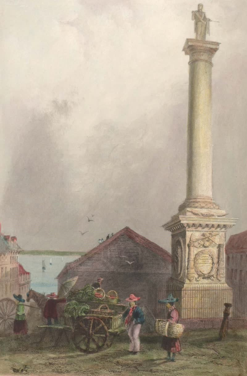 Canadian Scenery Illustrated: Volume 1 - Nelson's Pillar, Montreal (1865)