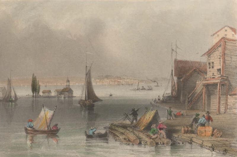 Canadian Scenery Illustrated: Volume 1 - Prescott, from Ogdensburgh harbour (1865)
