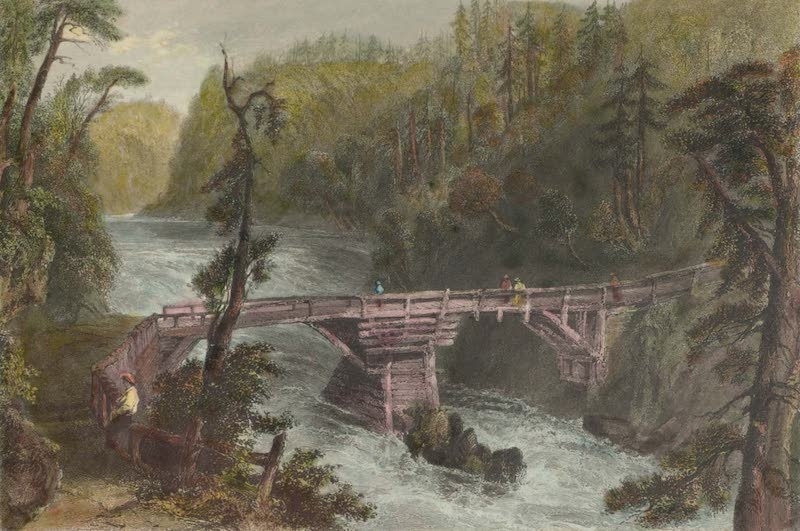 Canadian Scenery Illustrated: Volume 1 - Bridge near Quebec (1865)