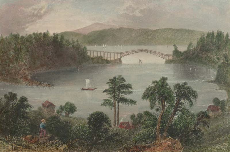 Canadian Scenery Illustrated: Volume 1 - The Chaudiere Bridge (Near Quebec) (1865)