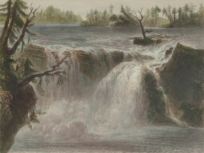 Canadian Scenery Illustrated: Volume 1 - Chaudiere Fall (Near Quebec) (1865)