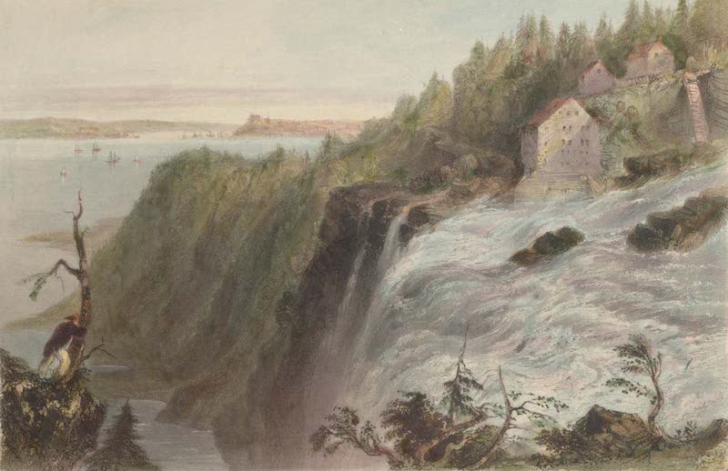 Canadian Scenery Illustrated: Volume 1 - Scene from the Summit of the fall of Montmorency (1865)