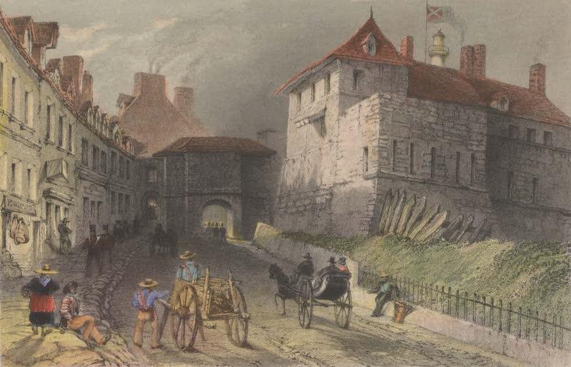 Canadian Scenery Illustrated: Volume 1 - Prescott Gate - Quebec (1865)
