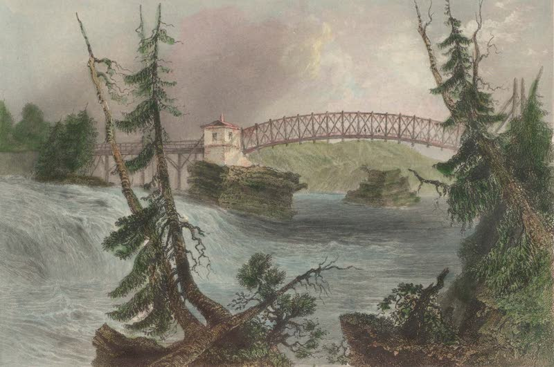 Canadian Scenery Illustrated: Volume 2 - Bridge at Bytown, Upper Canada (fallen in) (1865)