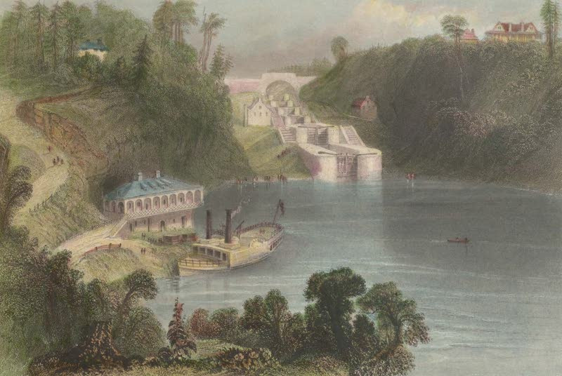 Canadian Scenery Illustrated: Volume 2 - Locks on the Rideau Canal (near Bytown) (1865)