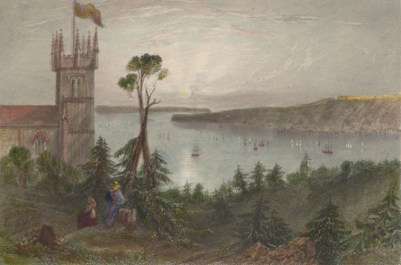 Canadian Scenery Illustrated: Volume 2 - Church at Point-Levi (1865)