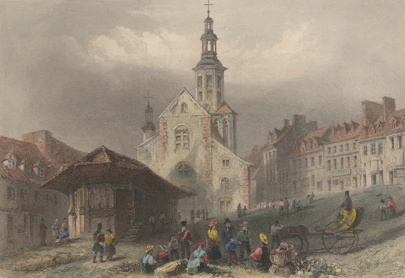 Canadian Scenery Illustrated: Volume 2 - The Market Place, Quebec (1865)