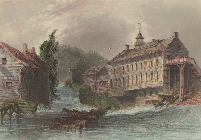 Canadian Scenery Illustrated: Volume 2 - Mills at Sherbrooke, on the River Magog (1865)