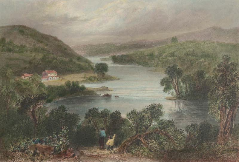 Canadian Scenery Illustrated: Volume 2 - Scene on the River St. Francis (near Sherbrooke (Eastern Townships) (1865)