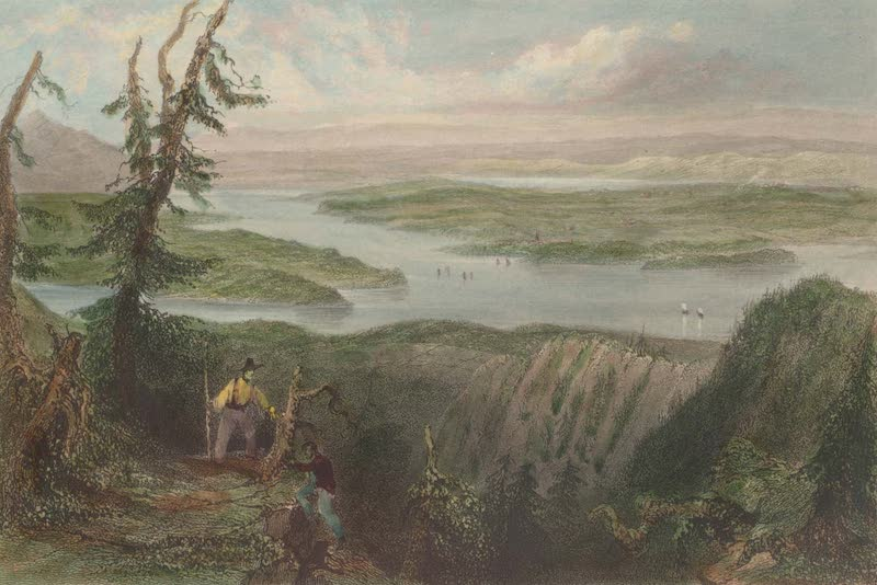 Canadian Scenery Illustrated: Volume 2 - View over Lake Memphremagog (from the Sugar Loaf). (1865)