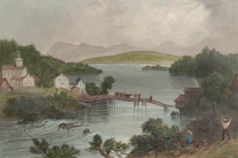 Canadian Scenery Illustrated: Volume 2 - Outlet of Lake Memphremagog (1865)