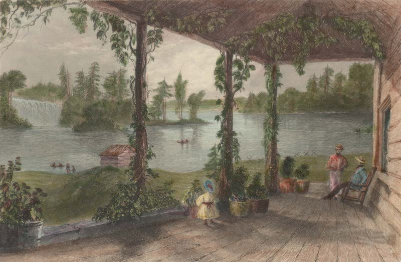 Canadian Scenery Illustrated: Volume 2 - View from the house of R. Shirreff, Esq (Ottawa River) (1865)